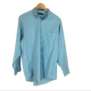 Chaps turquoise striped shirt